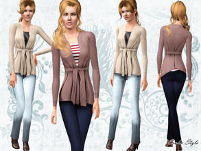Sims 3 — Fall Cashmere Combination Outfit by ernhn — Fall Cashmere Combination Outfit 3 recolorable parts. Comes with 2