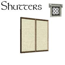 Sims 3 — Mac Tavish Inn - Build Buy - Closed Shutters by lilliebou — -25 Simoleons -Two recolorable channel -Match with