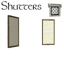 Sims 3 — MacTavish Inn - Build Buy - Opened Shutters by lilliebou — -25 Simoleons -Two recolorable channels