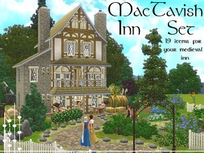 Sims 3 — Mac Tavish Inn set by lilliebou — Hi ! This set has 19 items : -MacTavish Inn (House) -3 floors -3 bedrooms -5