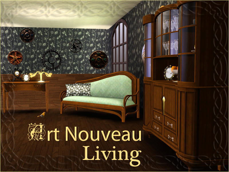 art nouveau living room shinokcr s nouveau living 15620