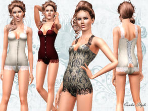 Sims 3 — Lace Detailed Corset Underwear by ernhn — Lace Detailed Corset Underwear 4 recolorable parts Comes with 3