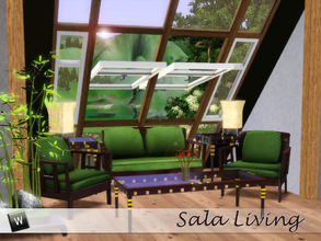 Sims 3 — Sala Living by Angela — Sala livingroom as requested by BrownSims. Set contains, Loveseat, chair, coffeetable,