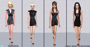 Sims 2 — Formal Teens Collection 10 by francisssko — 1 new mesh (included) + 4 recolors! Enjoy :P