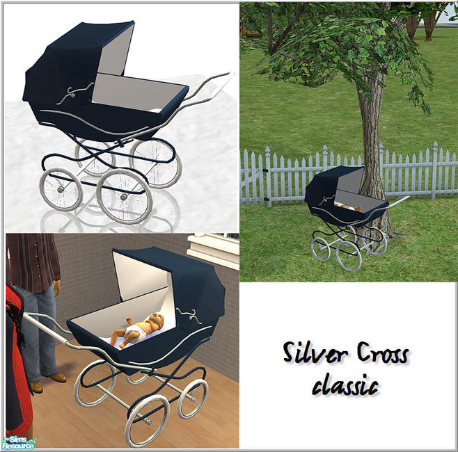 Birgit43 S Classic Silver Cross Baby Carriage 2 Tile Object
