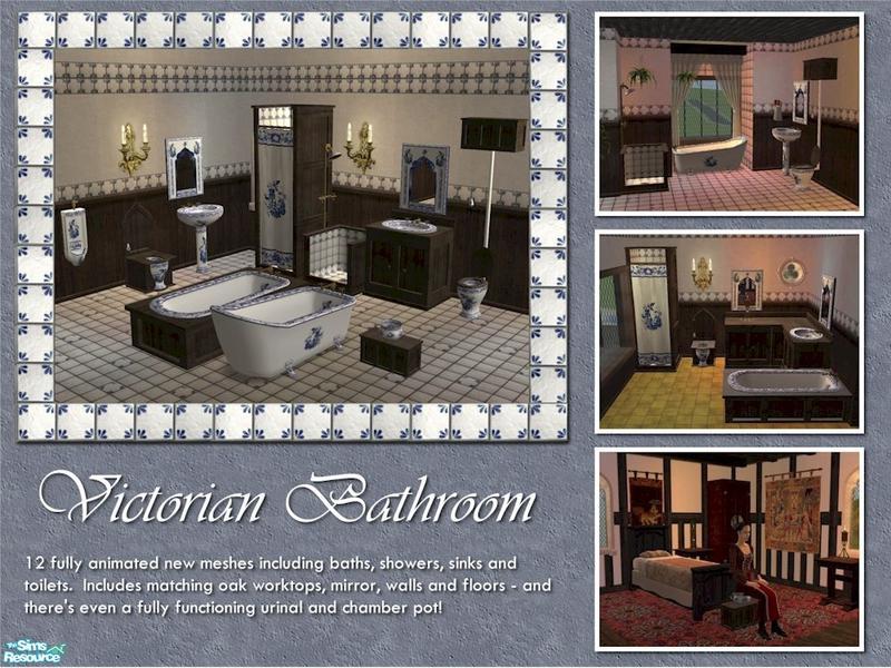 The Victorian Bathroom  Mesh Set. Cyclonesue s The Victorian Bathroom  Mesh Set   Blue