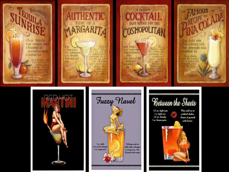 SimsHound's Vintage Cocktails Poster Pack