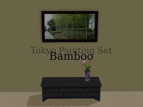 "Sims 2 — Tokyo Paintings Set - Bamboo by Efui — This painting is a recolour of the basegame painting ""SimCity at"