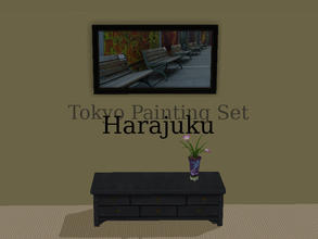 "Sims 2 — Tokyo Paintings Set - Harajuku by Efui — This painting is a recolour of the basegame painting ""SimCity at"