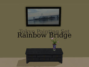 Sims 2 — Tokyo Paintings Set - Rainbow Bridge by Efui — This painting is a recolour of the basegame painting