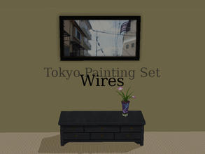 "Sims 2 — Tokyo Paintings Set - Wires by Efui — This painting is a recolour of the basegame painting ""SimCity at"