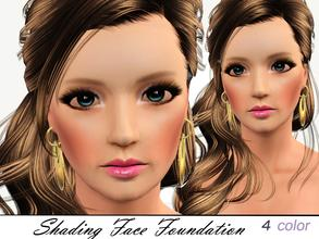 Sims 3 — Shading Face Foundation  by steadyaccess — It has for areas recolorable: Radiance, Shades, Face Tone and Blush