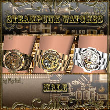 Sims 3 — Steampunk Wristwatches for Men by murfeel — It's the same EA wristwatch accessory...just Steampunked! Enjoy!