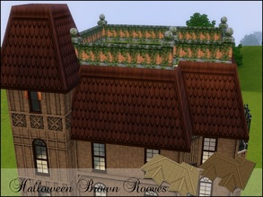 Sims 3 — Brown Halloween Rooves by cm_11778 — New Rooves for your Sim homes.