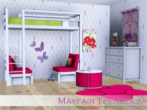 Sims 3 — Mayfair Teenroom by Angela — Mayfair Teenroom, Modern and simple teenroom with working bunkbed *needs