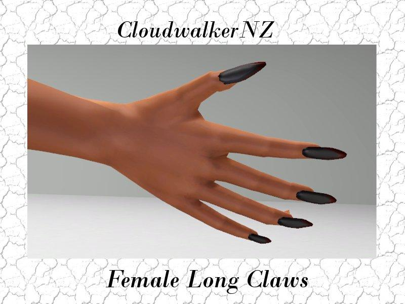 Female Long Claws Finger Nails
