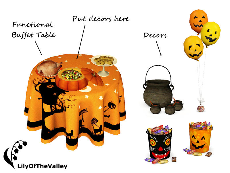 LilyOfTheValleys Happy Halloween Buffet - Dining Room Set With Buffet