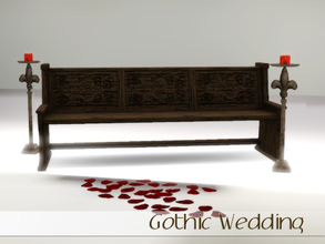 Sims 3 — Gothic Wedding by Angela — Gothic Wedding extra's made for Simspiration Issue 2 now available. Set contains