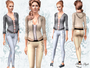 Sims 3 — Strawberry Sport Set by ernhn — Strawberry Sport Set *Strawberry Hoodie Sweater with Shirt *Strawberry Sweat