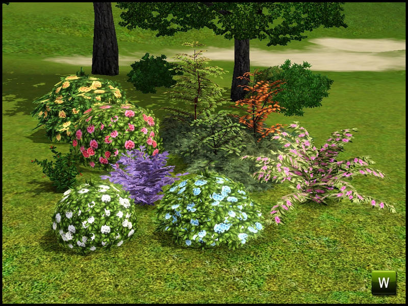 Sim man123 39 s shrubs and bushes for Indoor gardening sims 4