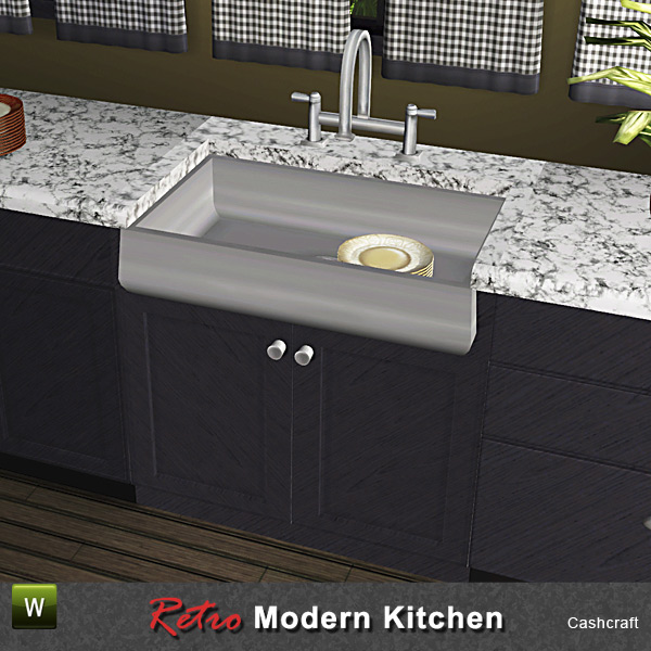 Cashcraft's Retro Kitchen Farmhouse Sink