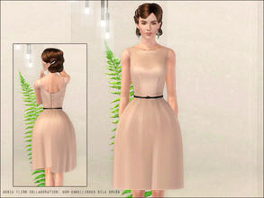 Sims 3 — Gosik Flinn Collaboration: bow-embellished silk dress by flinn — A new elegant formal dress for adult females: