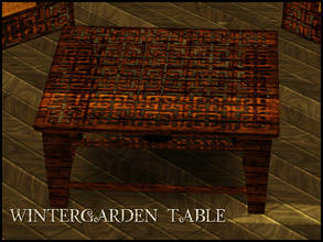 Sims 3 — WINTERGARDEN TABLE by abuk0 — WINTERGARDEN TABLE by abuk0