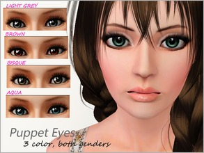 Sims 3 — Puppet Eyes by steadyaccess — For female and male sims from toddler to elder! Appears as a costume makeup.