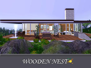 Sims 3 — evi Wooden Nest  ( without CC) by evi — It is a two bedroom and an all in one room lot decorated with wood