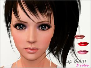Sims 3 — Lip Balm (Num.2)  by steadyaccess — 3 color lipstick for females from teen to elder!