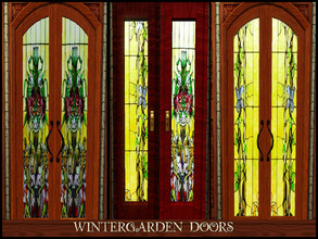 Sims 3 — WINTERGARDEN DOORS by abuk0 — of course the wintergarden set needs doors ;-)) this is special for dear murfeel