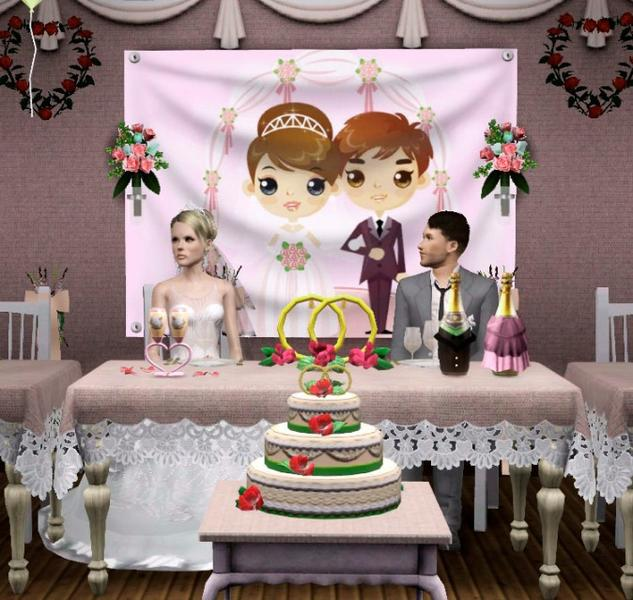 Wedding Altar Sims 2: Wedding 2 Decor Annflower1