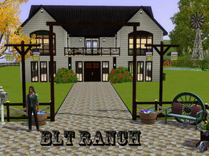 Sims 3 — BLT Ranch of Sunet Valley by spitzmagic — A spacious 2 bedroom, 1 and 1/2 bathroom. One spare room for whatever