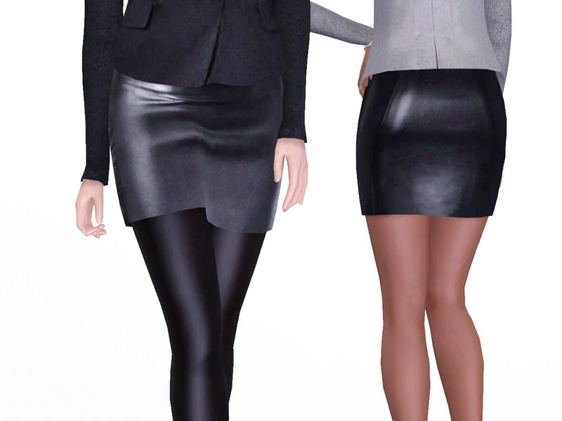 april s designer leather skirt