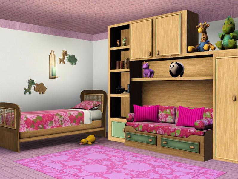 Classic kids bedroom lulu265 for Bedroom designs sims 4