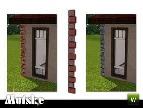 Sims 3 — Aria Quoining Left Outer by Mutske — 2 recolorable parts. Environment 5. Made by Mutske@TSR. TSRAA.