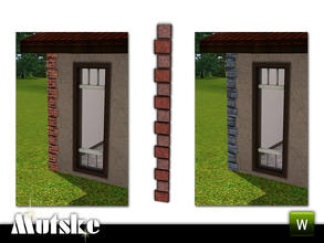 Sims 3 — Aria Quoining Right Outer by Mutske — 2 recolorable parts. Environment 5. Made by Mutske@TSR. TSRAA.