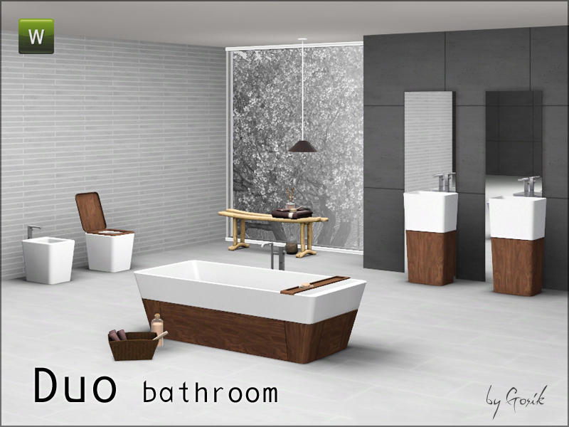 Gosik 39 s duo bathroom for Bathroom decor sims 3