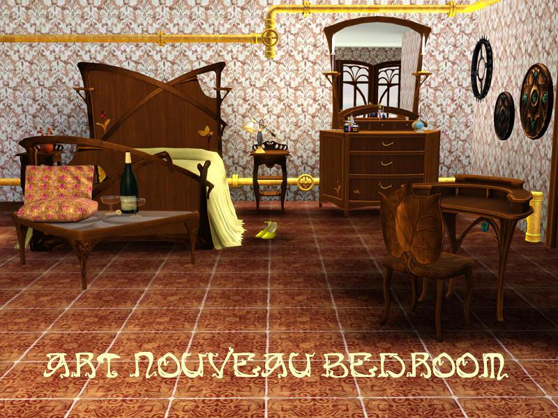 Shinokcr 39 s art nouveau bedroom for Art nouveau interieur