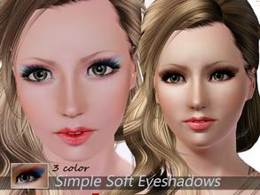 Sims 3 — Simple Soft Eyeshadows by steadyaccess — 3 part recolorable! For females and males from teen to elder!) Hope