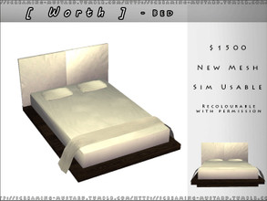 Sims 2 — [ Worth ] - Bed by Screaming_Mustard — A modern bedroom set for your Simmies.