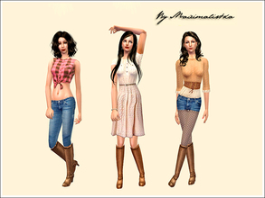 Sims 2 — MXM Country style collection by MAXImalistka — Adult everyday female outfits Mesh52 (5th mesh on the page)