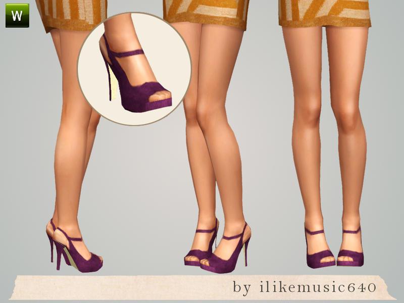 ILikeMusic640's Purple Slingback Peeptoe Heels AF