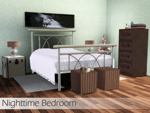 Sims 3 — Nighttime Bedroom by Angela — Nighttime bedroom, everyday type of bedroom can be used in decorating in multiple
