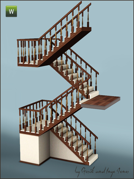 Gosik 39 s cottage half landing stairs for Half spiral staircase