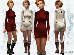 Sims 3 — Winter Trend Set by ernhn — Winter Trend Set *Wool Pullover *Middle Height Leather Boots Custom boots mesh by