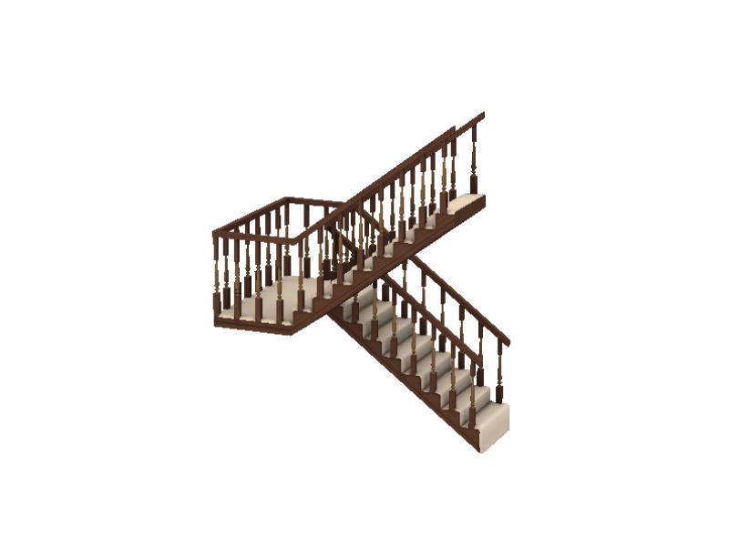 Gosik 39 s cottage half landing stairs right for Quarter landing staircase