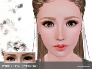 Sims 3 — Wide & Long Eyebrows  by steadyaccess — Available for females and males from teen to elder!:) Hope you'll