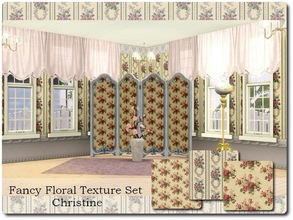 Sims 3 — Fancy Floral Textures by cm_11778 — A new texture set for your Sim homes. Happy Simming, Christine