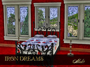 Sims 3 — IRON DREAMS by abuk0 — nice dreams in this baroque romantic iron bed.......